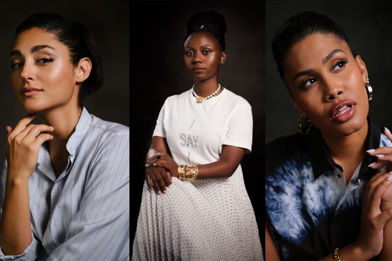 Dior Stands With Women: Golshifteh Farahani, Pamela Tulizo and Leyna Bloom.