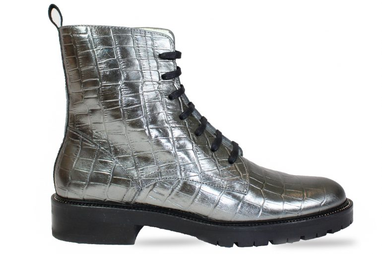 Festival Boot in metallic silver