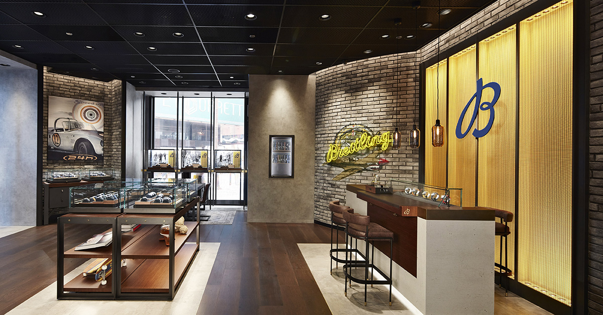 Breitling's new boutique on Queen's Road Central