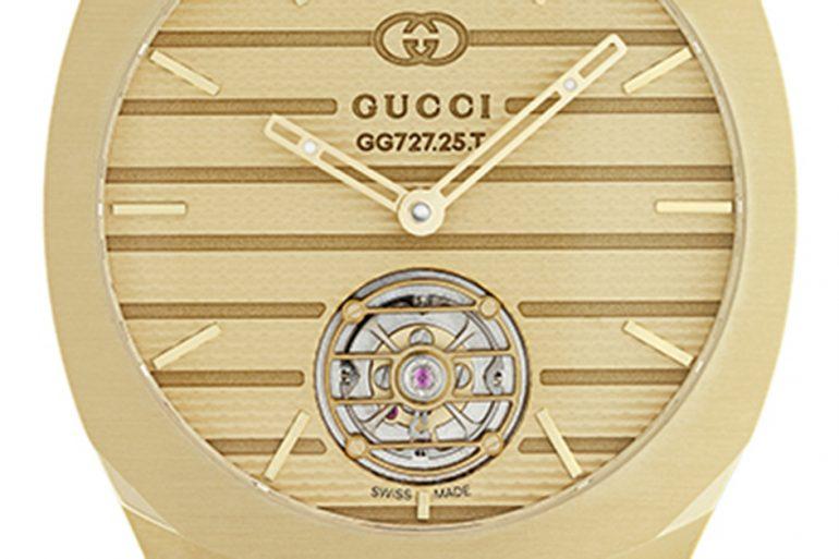 GUCCI 25H Tourbillon Yellow Gold